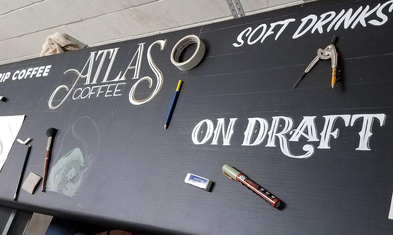 Atlas Coffee Chalkboard Design