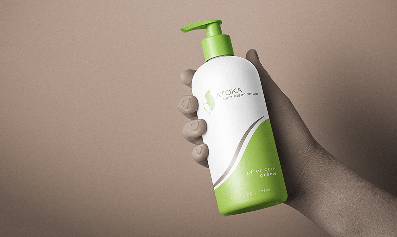 Atoka Skin Laser Center Logo and Packaging Design
