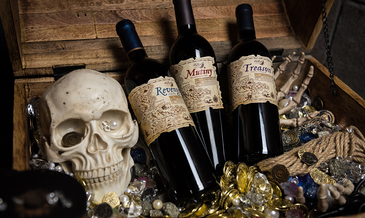 Dry Creek Vineyard Pirate Wine Label Designs