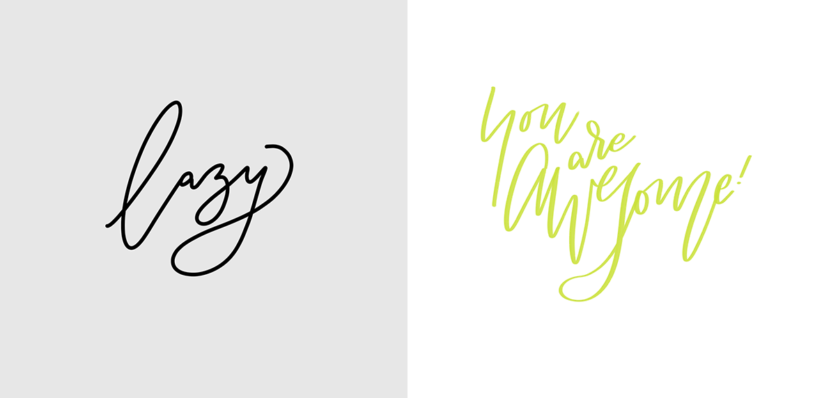 Digital Lettering Examples