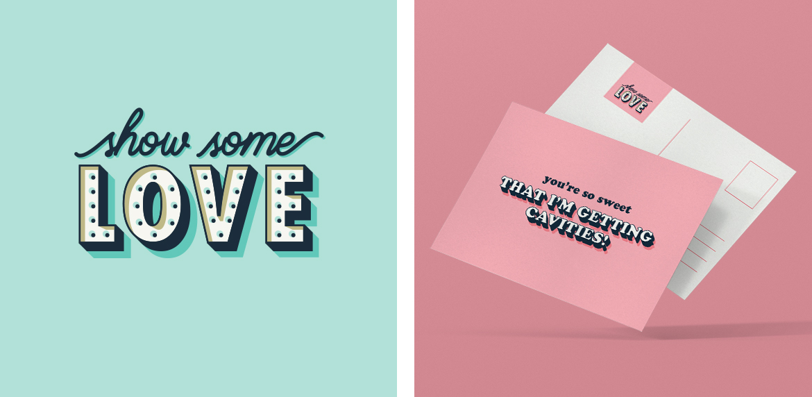 Show Some Love Logo and Postcard Design